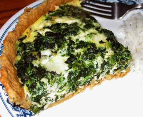 Spinach quiche in 15 minutes