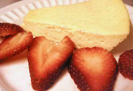 Microwave cheesecake