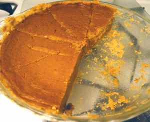 Pumpkin pie in the microwave
