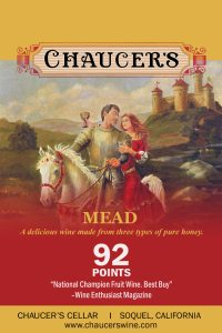 Chaucer's Mead shelftalker label