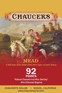 Chaucer's Mead shelftalker label