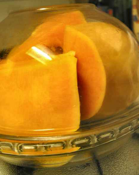 butternut squash ready to microwave