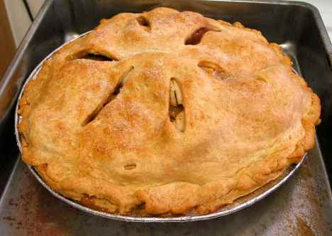 Apple pie for New Year's Day