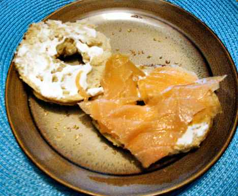 bagel with nova lox