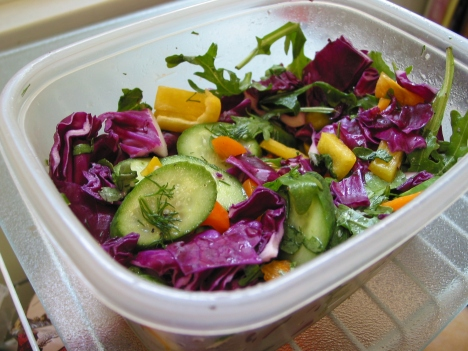 box of winter salad