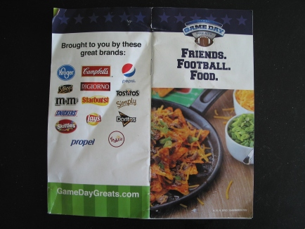 Kroger Superbowl recipe booklet