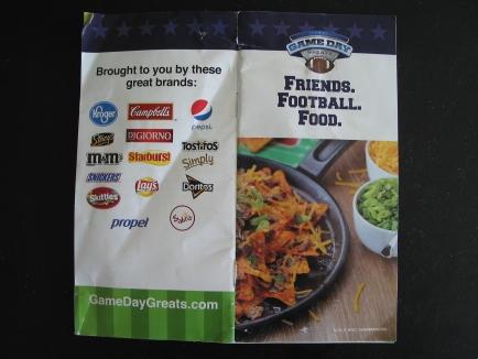 Kroger Superbowl recipe booklet
