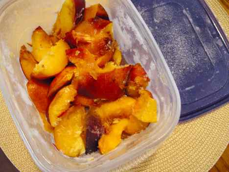 frozen nectarine wedges