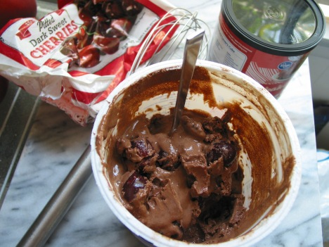 Chocolate Cherry frozen yogurt