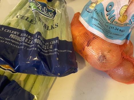 bulk sacks of celery and onions