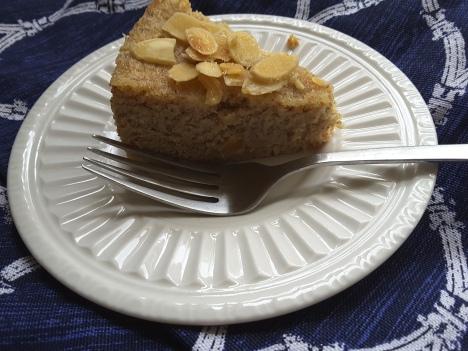pear almond torte slice