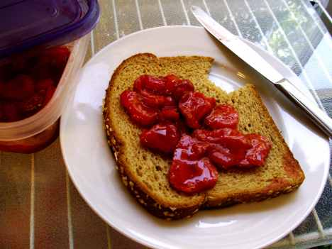 microwave fresh strawberry jam
