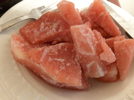 frozen watermelon slices